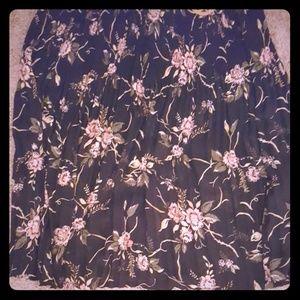 Plus Flower Skirt